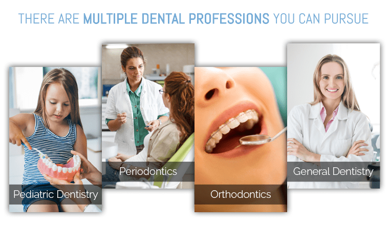 There are multiple dental professions you can pursue to become a dentist